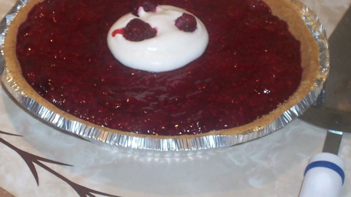 Raspberry Topped Lemon Pie