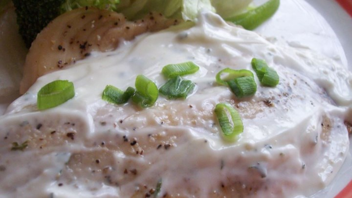 Tilapia with Creamy Sauce
