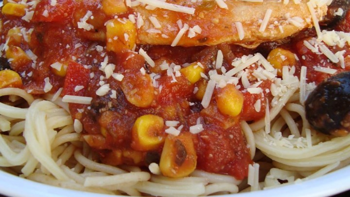 Spicy Chicken Spaghetti