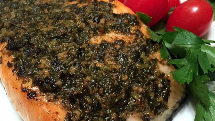 Grilled Salmon With Pesto Crust Recipe - Allrecipes.com