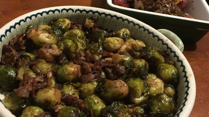 Braised Brussels Sprouts with Bacon Recipe - Allrecipes.com