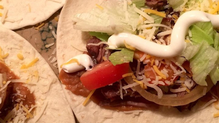 No Fuss Shredded Beef Tacos