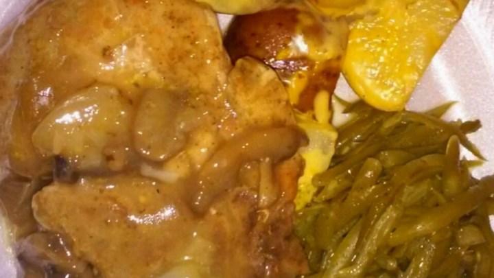 Pork Chops with Mushroom Onion Gravy