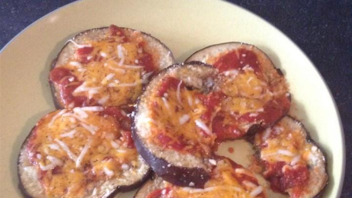 Flourless Eggplant Pizza