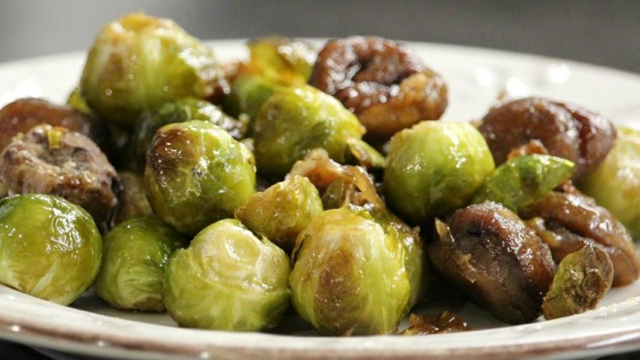 how to cook sprouts and chestnuts