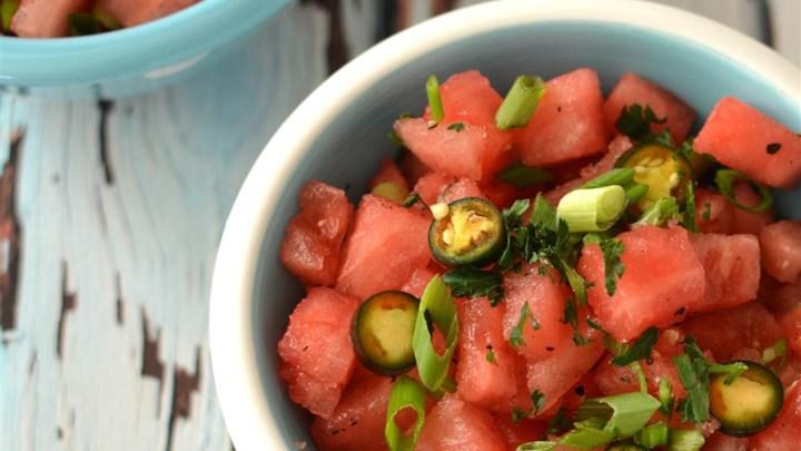 Warm Watermelon Salad