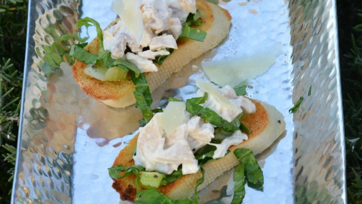 Chicken Caesar Toasts