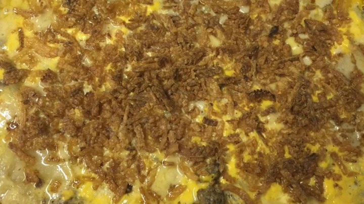 Creamy Hamburger Potato Casserole