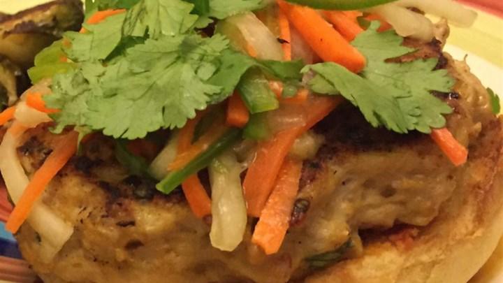 Chef John's Chicken Satay Burger Recipe - Allrecipes.com