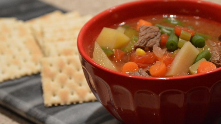 Dutch Oven Vegetable Beef Soup - Review by RetiredGuyCooks ...