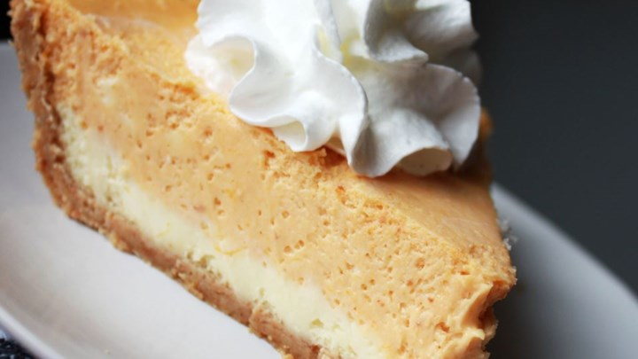 Double Layer Pumpkin Cheesecake Recipe — Dishmaps