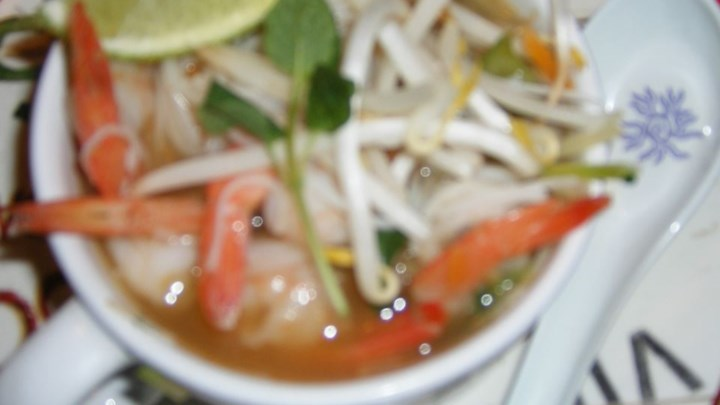 Grilled Shrimp Rice Noodle Bowl