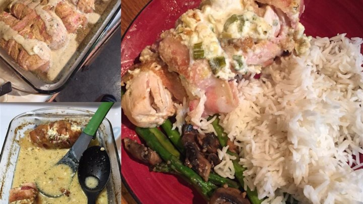 Cream Cheese, Garlic, and Chive Stuffed Chicken Recipe - Allrecipes ...
