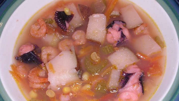 Shrimp and Octopus Soup (Caldo de Camaron y Pulpo)