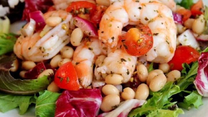 Shrimp and White Bean Salad