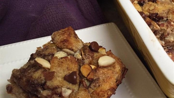 Chocolate Almond Bread Pudding
