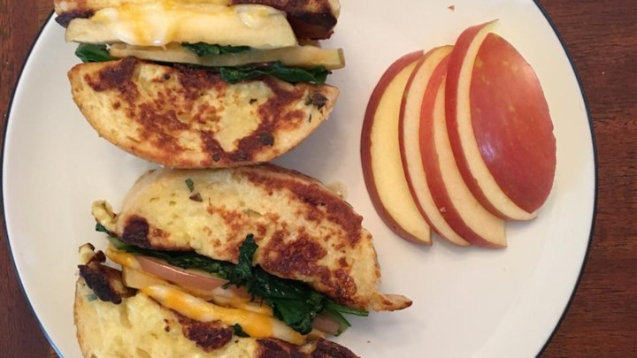 Apple and Cheddar French Toast Sandwich