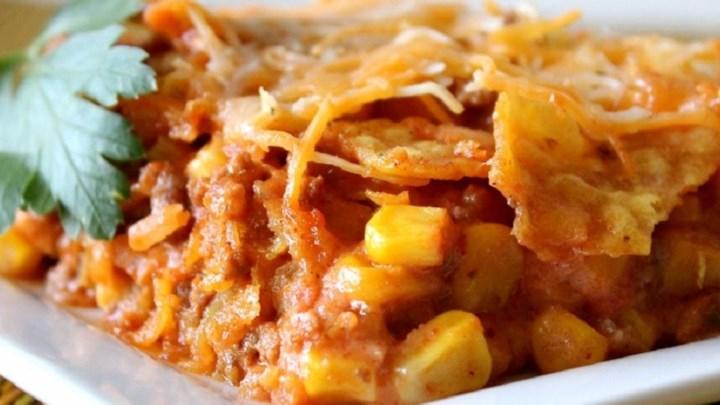 Beef Nacho Casserole Recipe - Allrecipes.com