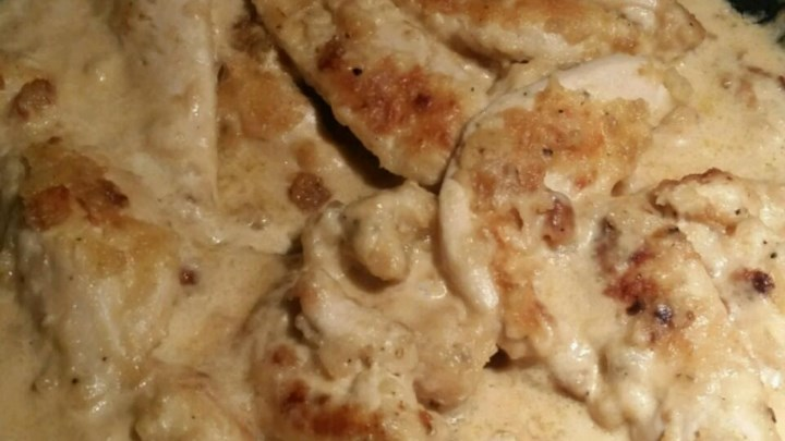 Chicken with a Creamy Marsala Sauce
