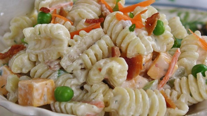 Ranch, Bacon, and Parmesan Pasta Salad