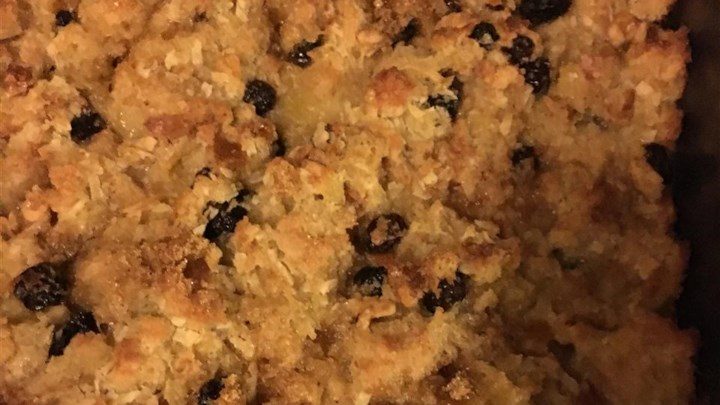 Pineapple Bread Pudding with Raisins