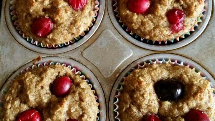 Lighter Banana Crumb Muffins