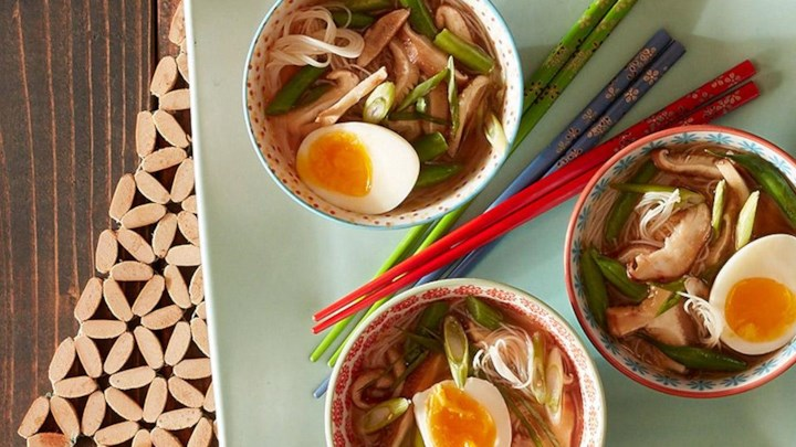 Spicy Miso Soup with Roasted Shiitake Mushrooms and Green Beans Recipe ...