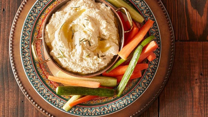 Spicy Roasted Cauliflower and Labneh Spread with Fresh Rosemary