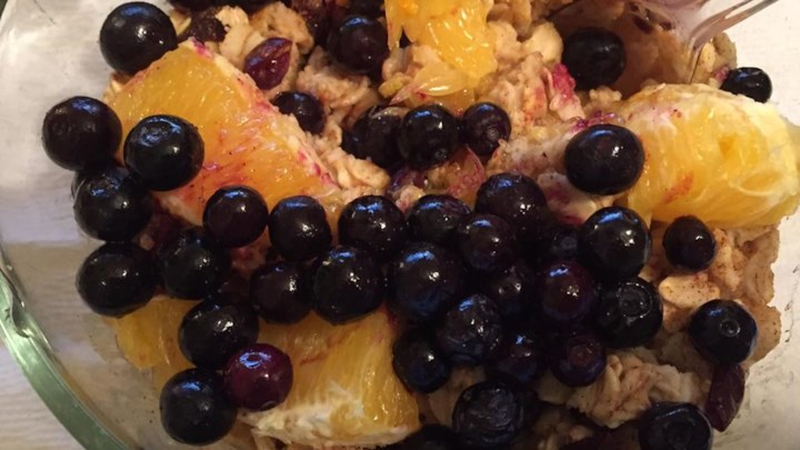 Cranberry-Orange Spiced Oatmeal