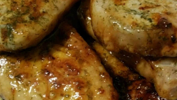 Dill and Honey Pork Chops