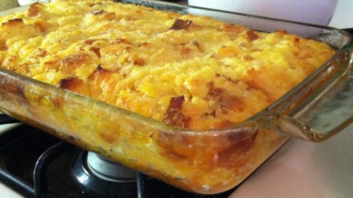 Pineapple Bread Souffle