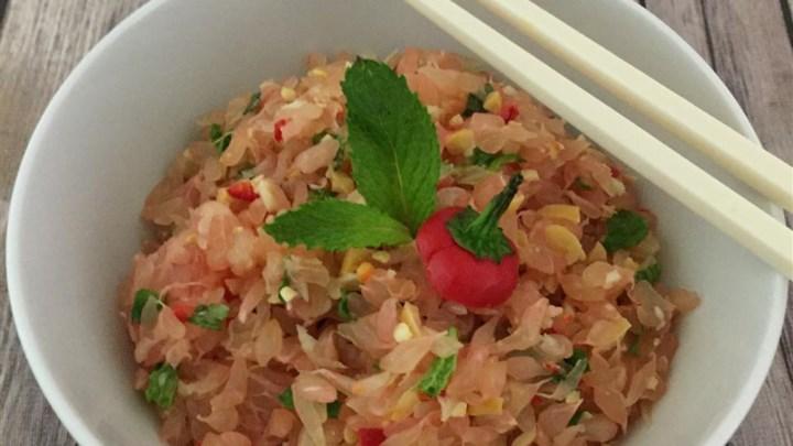 Thai Shrimp, Chicken, Grapefruit, and Coconut Salad