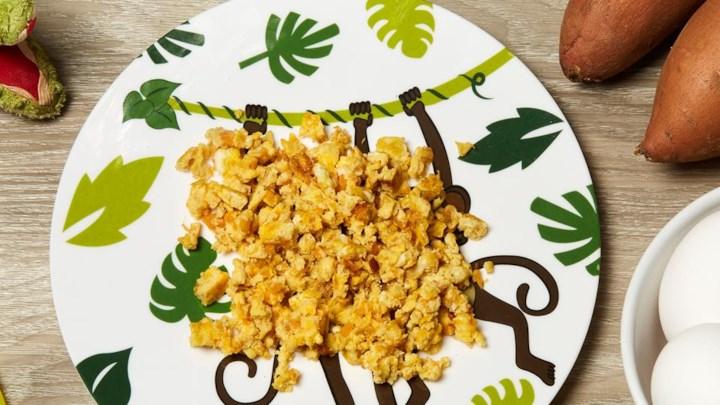 Cheesy Egg and Sweet Potato Omelette