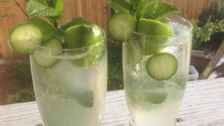 Mint-Cucumber Mojitos