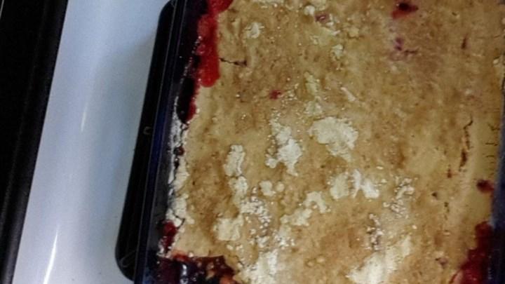 Aunt Kaye's Rhubarb Dump Cake