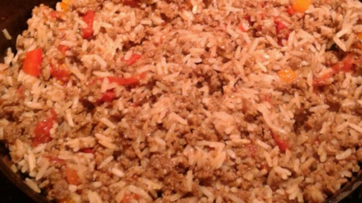 Mark's Quick Beef Spanish Rice