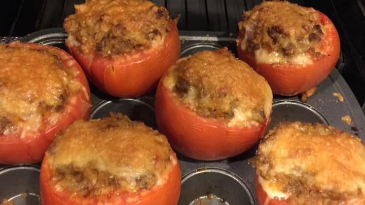 Rice and Beef Stuffed Tomatoes