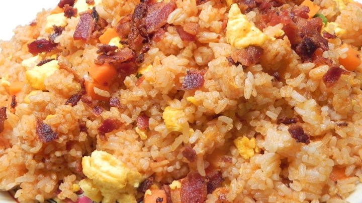Fried Rice with Bacon and Sriracha