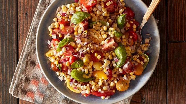 Grilled Corn and Heirloom Tomato Salad