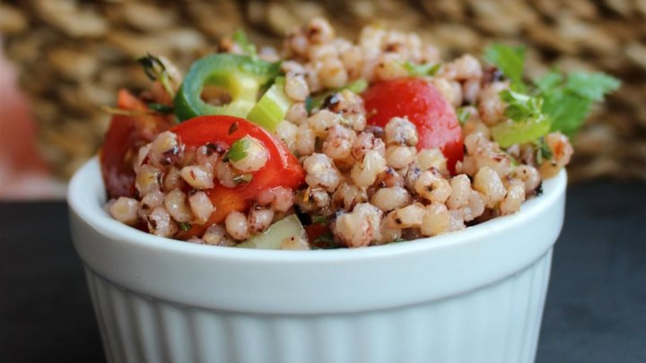 Zesty Whole Grain and Vegetable Salad