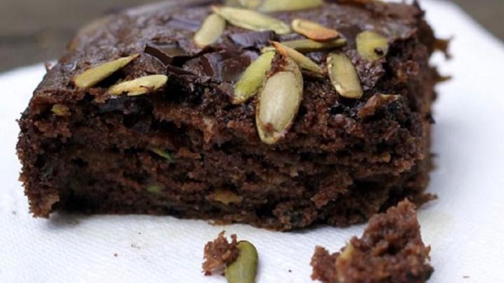 Chocolate Apple Zucchini Picnic Cake