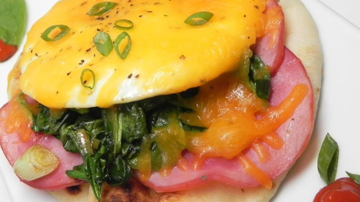Canadian Bacon Breakfast Stack