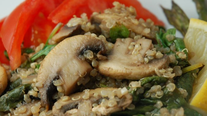 Robin's Quinoa With Mushrooms And Spinach Recipe — Dishmaps