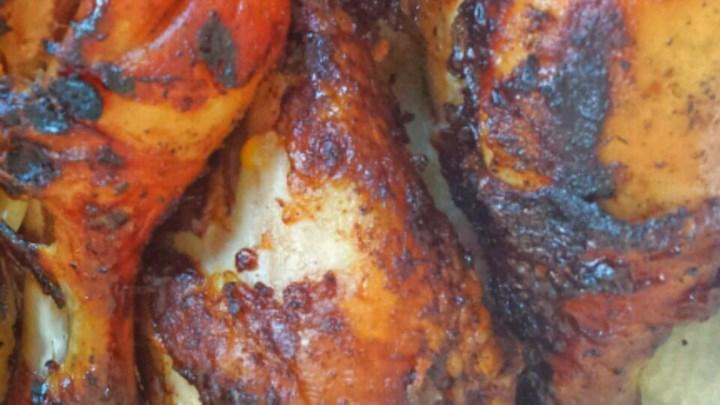 Grilled Teriyaki Beer Chicken