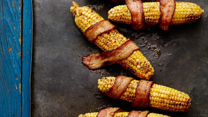 Corn with Bacon and Chili Powder