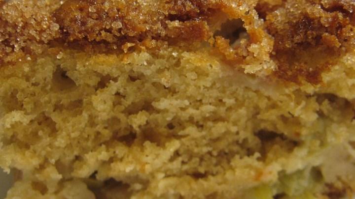Sour Cream-Rhubarb Squares