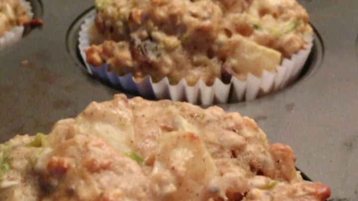 Happy Apple Zucchini Muffins