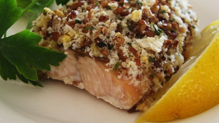 Alaska Salmon Bake with Pecan Crunch Coating Recipe - Allrecipes.com
