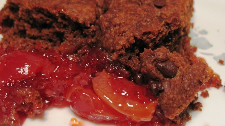 Cherry Chocolate Cobbler