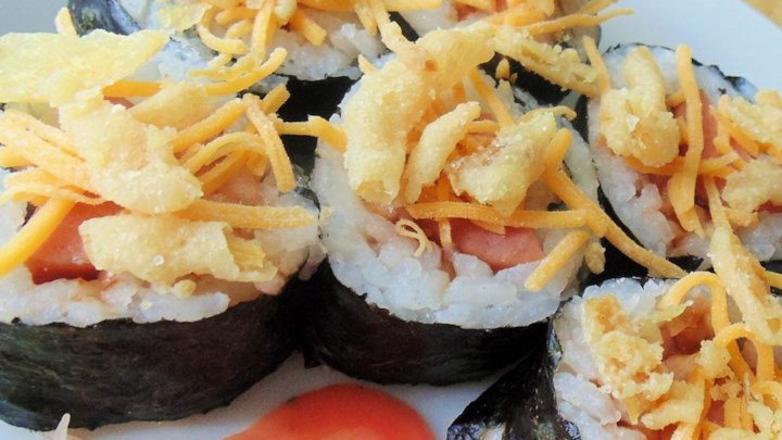 Barbeque Hot Dog Sushi Roll